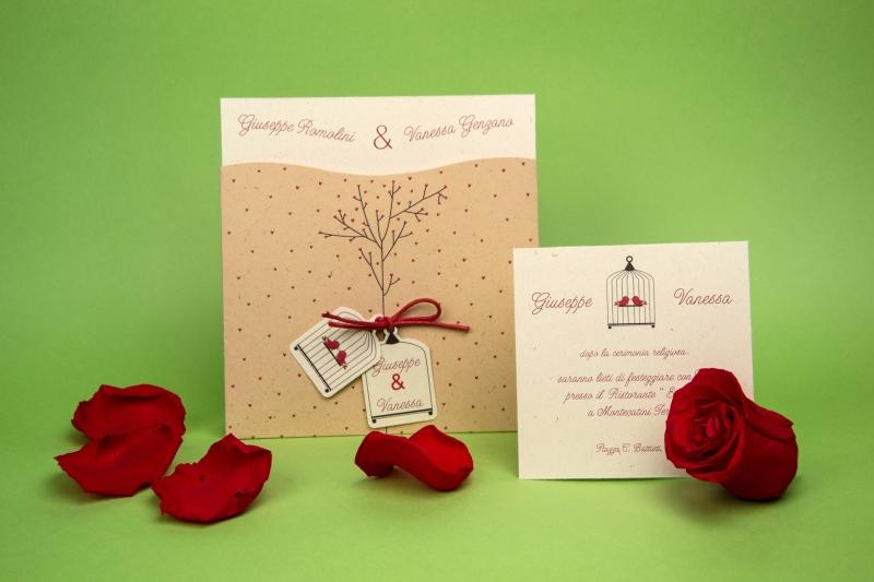Partecipazione ludovica partecipazione realizzata con for Partecipazioni nozze on line